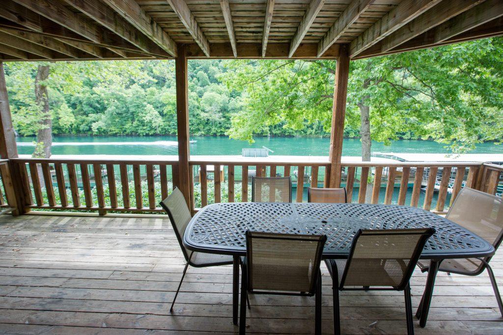 Lakefront deck