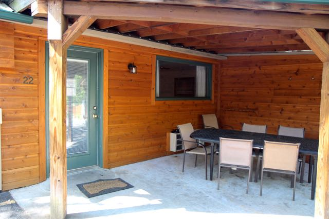 Covered patio of #22