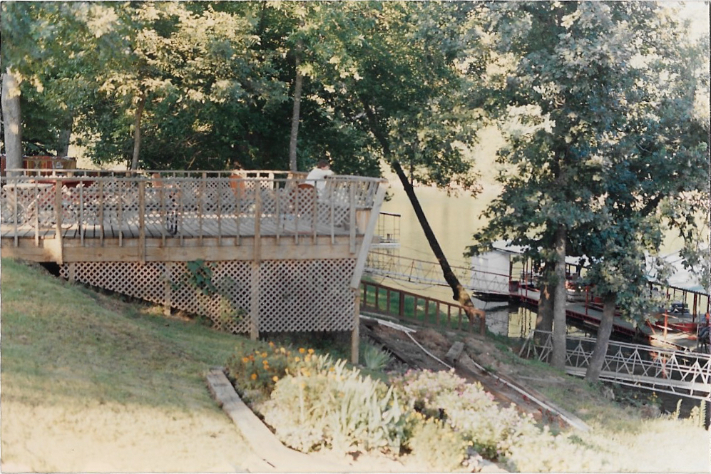 Pavilion deck and terrace garden in 1984.