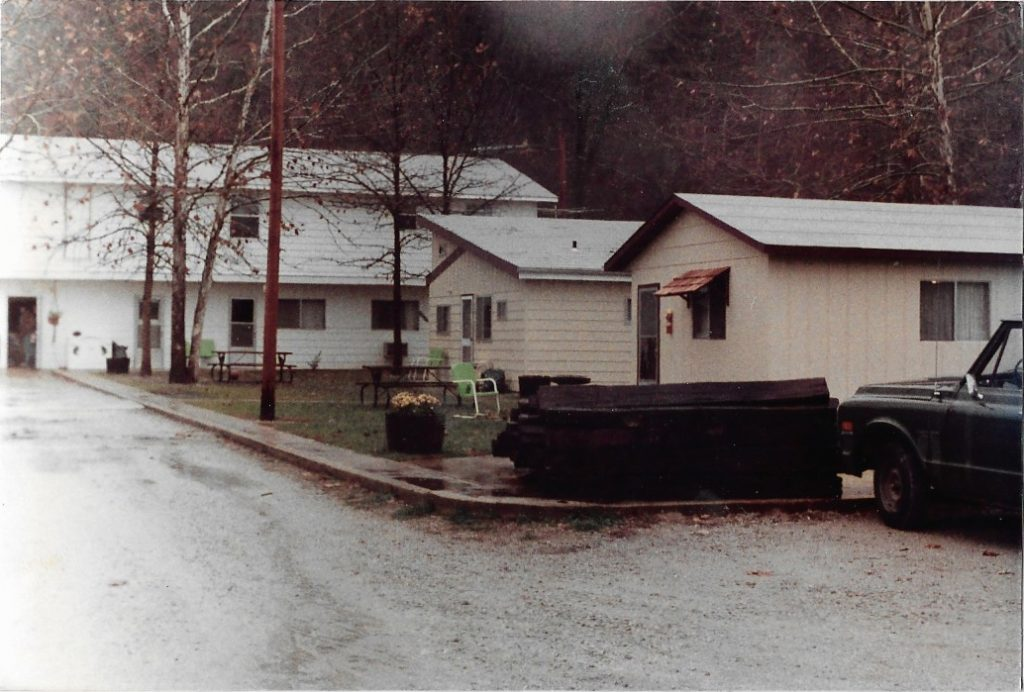 Front of the resort in 1984
