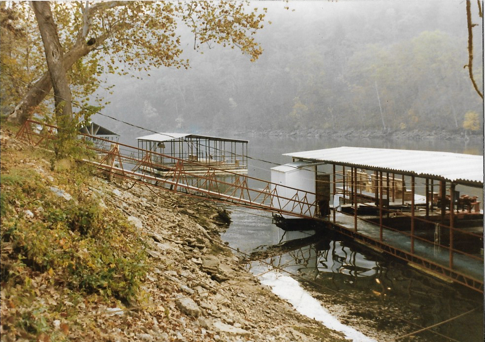 Steep ramp to the dock in 1983