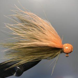 Lilley's Sculpin/Peach, Orange Head Marabou Jig