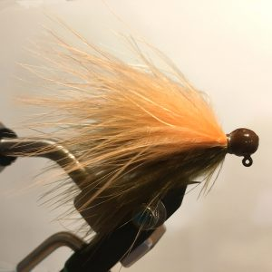 Lilley's Sculpin/Peach, Brown Head Marabou Jig