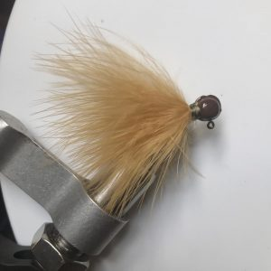 Lilley's Ginger, Brown Head Marabou Jig