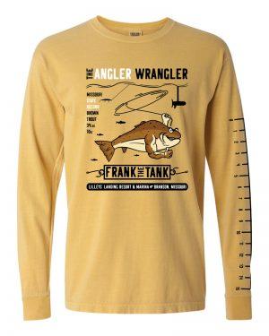 Angler Wrangler T-Shirt – Mustard