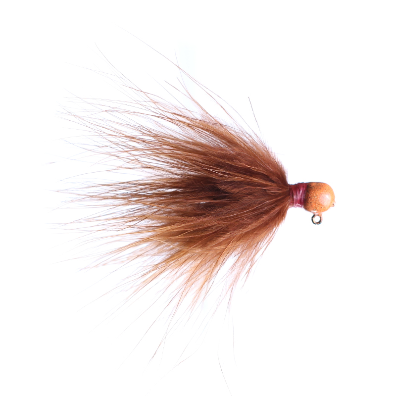 Lilley's Brown, Orange Head Marabou Jig