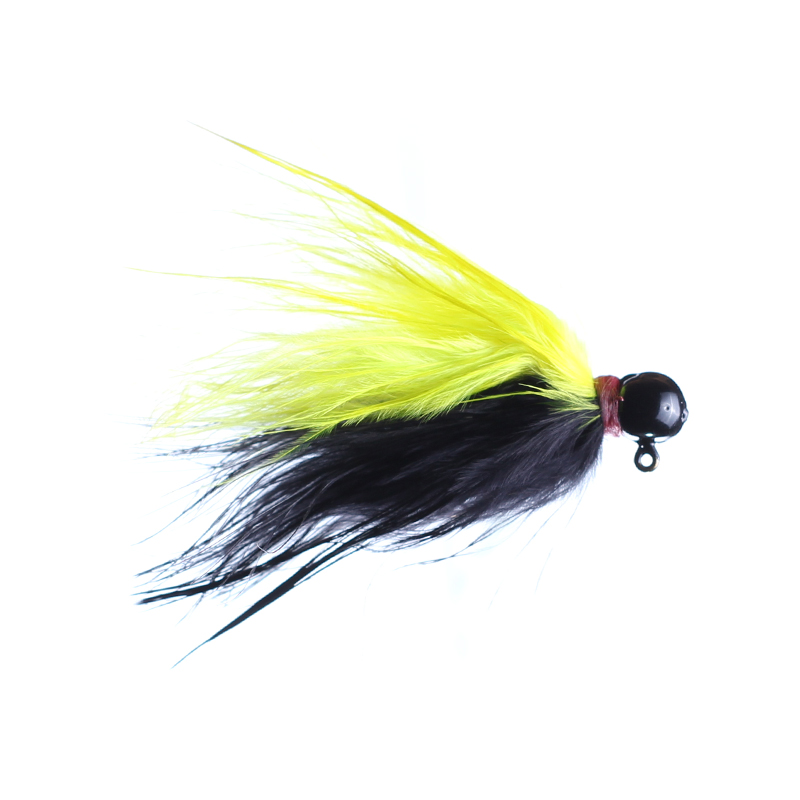 Lilley's Black/Yellow, Black Head Marabou Jig