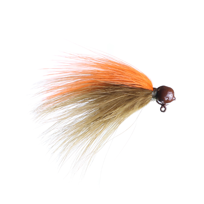Lilley's Sculpin/Orange, Brown Head Marabou Jig