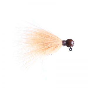 Lilley's Peach, Brown Head Marabou Jig