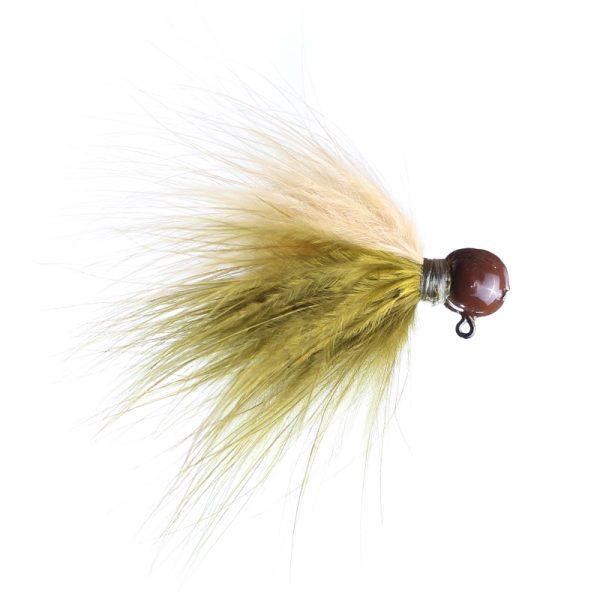 1/8 olive/ginger brown head