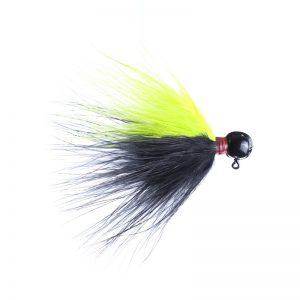 Lilley's Black/chartruese, Black Head Marabou Jig