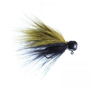 Lilley's Black/Olive, Black Head Marabou Jig
