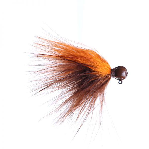 1/8oz brown/orange - brown head