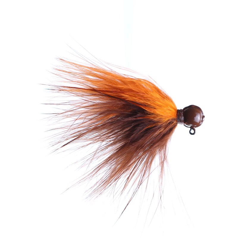 Lilley's Brown/Orange, Brown Head Marabou Jig