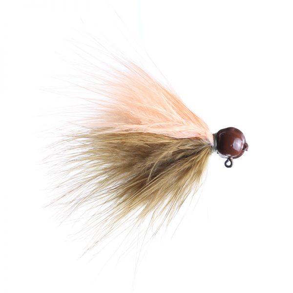 1/8oz sculpin/peach - brown head