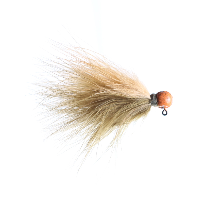 Lilley's Sculpin/Ginger, Orange Head Marabou Jig