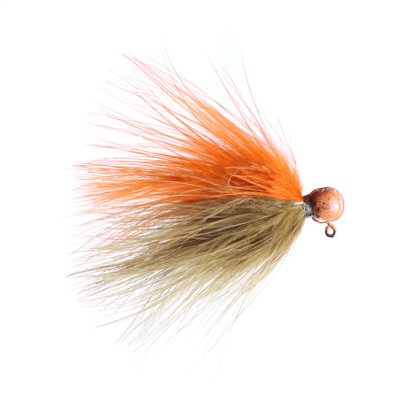 Lilley's Sculpin/Orange, Orange Head Marabou Jig