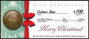 Lilleys' Landing Christmas Gift Certificate