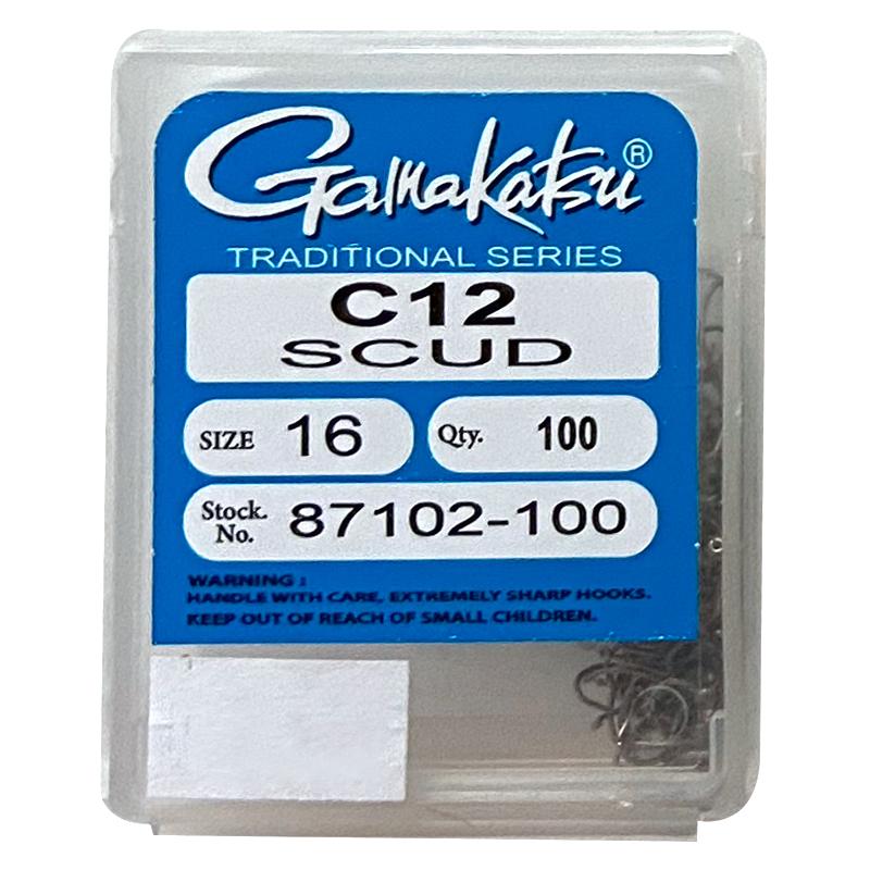 Gamakatsu C12 Scud Hook – 100ct.