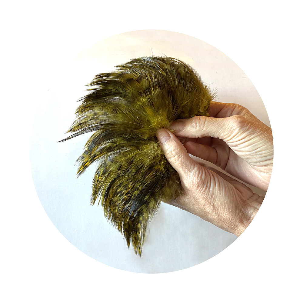 Grizzly Variant Neck Hackle - olive
