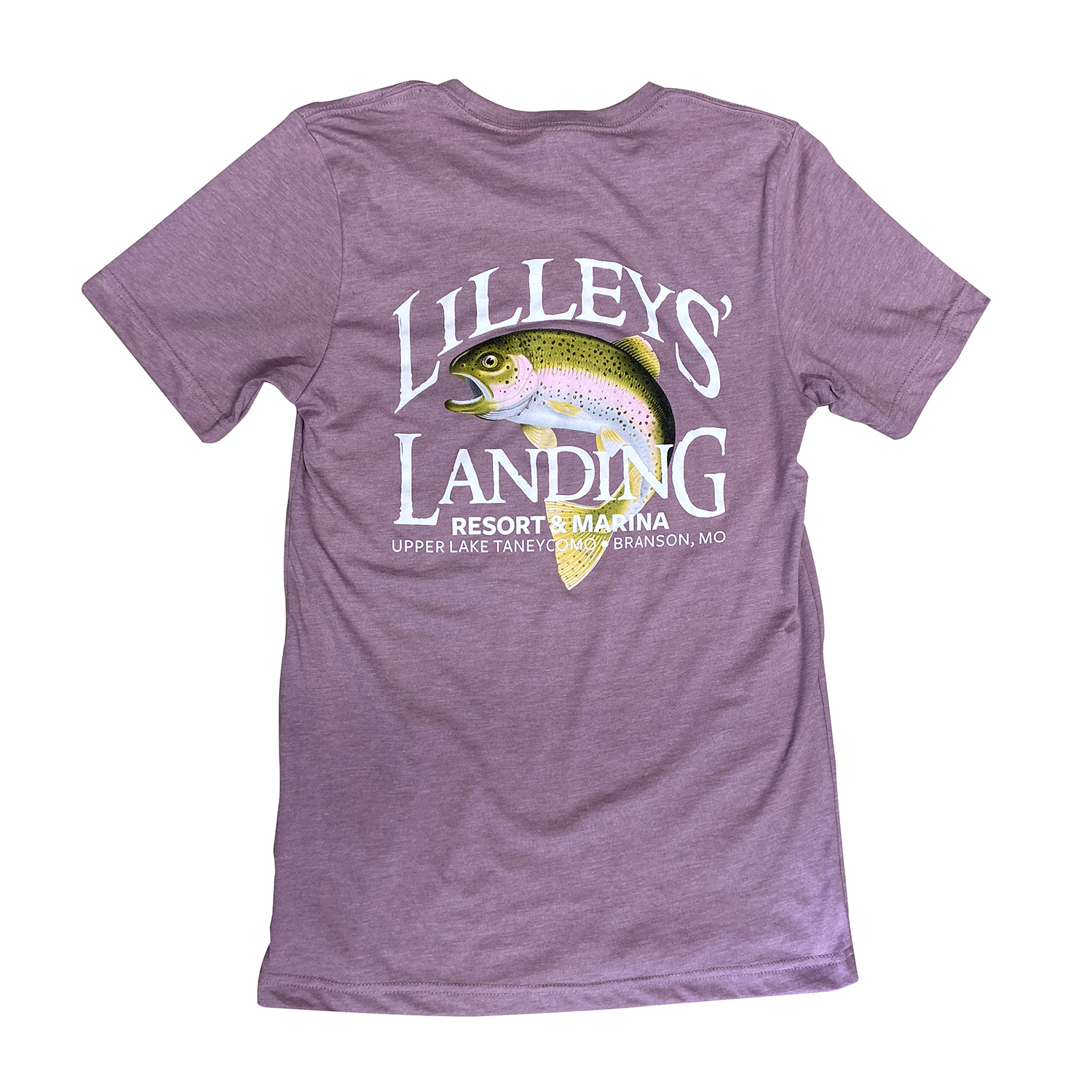 Lilleys' Logo Tee – Heather Orchid