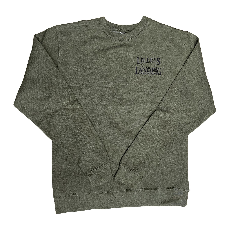 Lilleys' Logo Crewneck Sweatshirt - Military