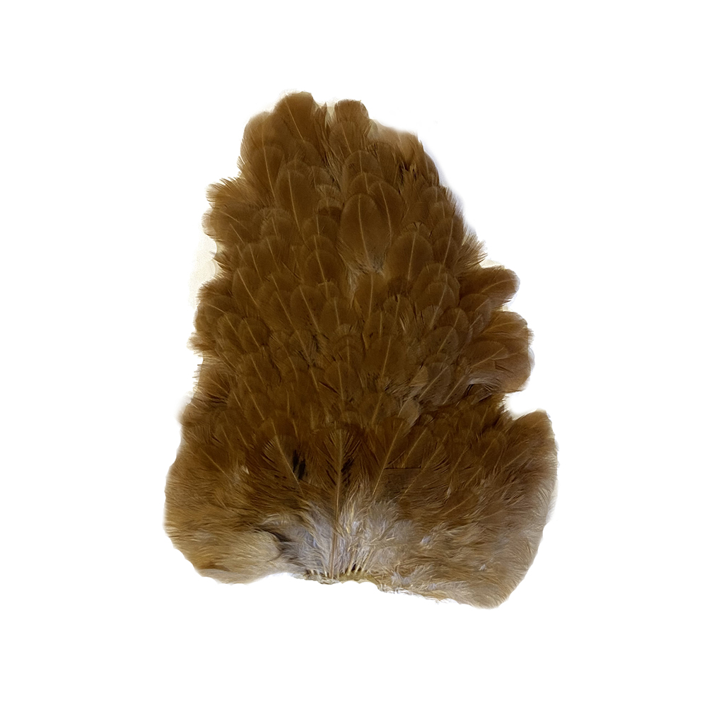 Soft Hackle Hen Saddle Patches – Ginger