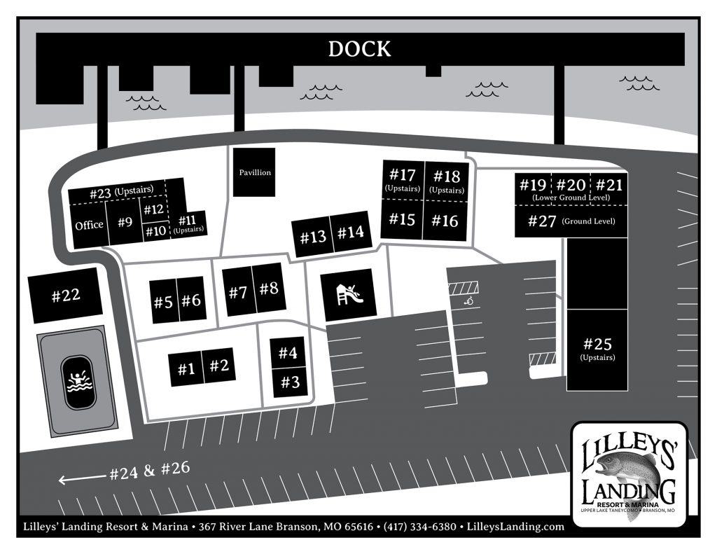 Lilleys' Landing Resort Map