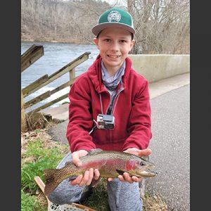Kason Clark rainbow trout